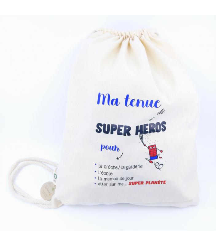 Sac enfant coton Bio - Tenue de super héros - Faire Part-à-Part - Vêtements et Accessoires -