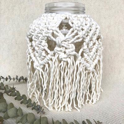 Vase avec macramé blanc cassé - Atelier l'Esperluette - Décoration -