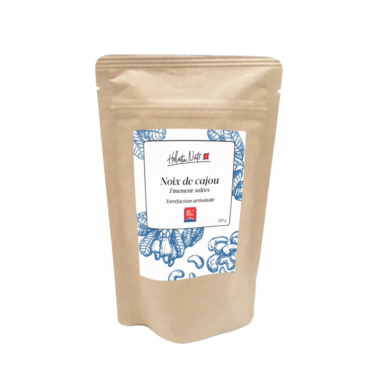 Noix de cajou au sel des Alpes - Helvetia Nuts - Salé - HN1