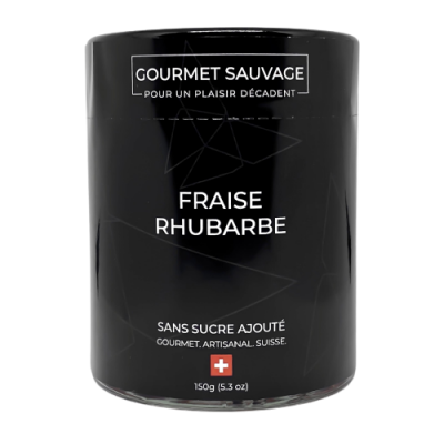 Confiture fraise rhubarbe sans sucre - Gourmet Sauvage - Sucré - GS2