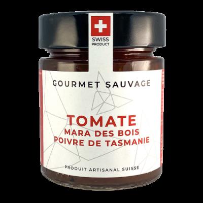 Confiture Tomate, Mara des Bois, Poivre de Tasmanie - Gourmet Sauvage - Salé - GS6