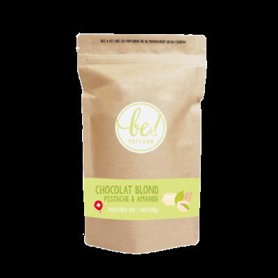 Popcorn Chocolat blond, pistache & amande - Be! Popcorn - Sucré - BP5