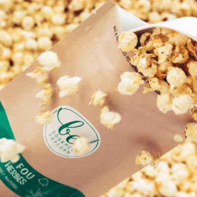 Popcorn au Sel fou & herbes - Be! Popcorn - Salé - BP6