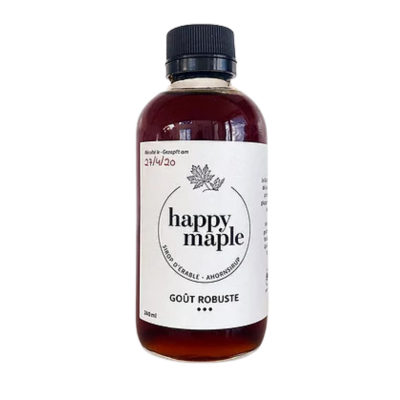 Sirop d'érable - Goût Robuste - Happy Maple - Sucré - HM3002