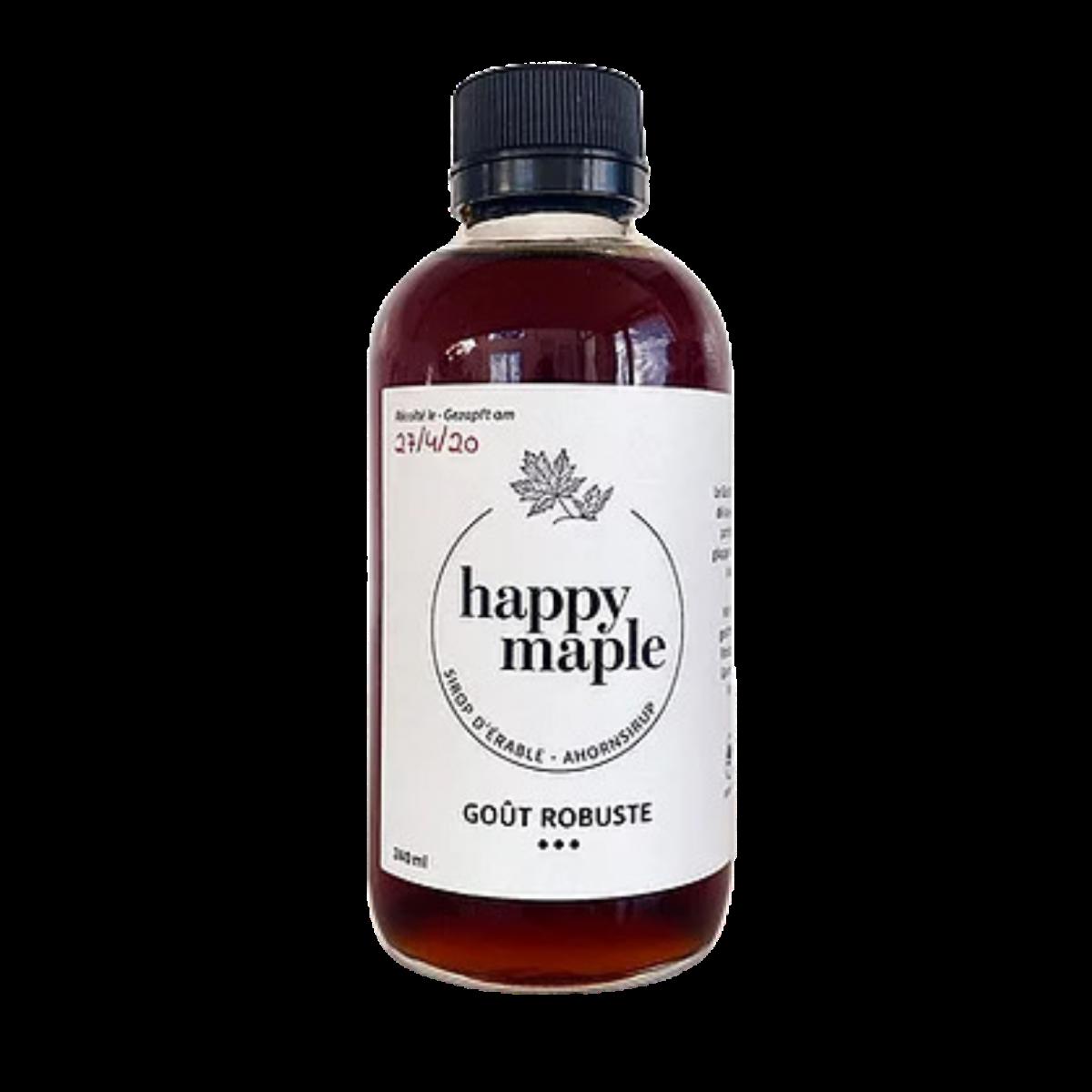 Sirop d'érable - Goût Robuste - Happy Maple - Sucré - HM3002