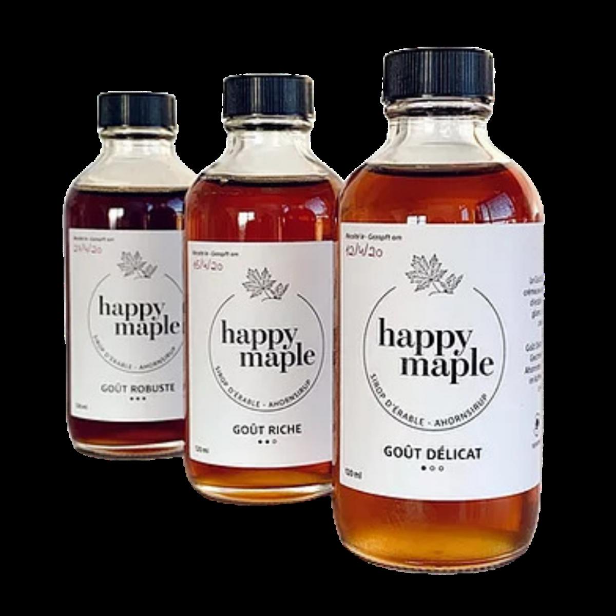 Sirop d'érable - Trio Découverte - Happy Maple - Sucré -
