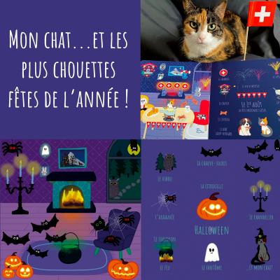 Les fêtes…et mon chat! - Albiziabooks - Jouets et Livres - ALB4