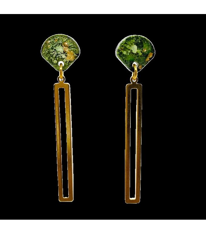 Sam - vert olive et or - Nakimi - Bijoux et Accessoires - NA2