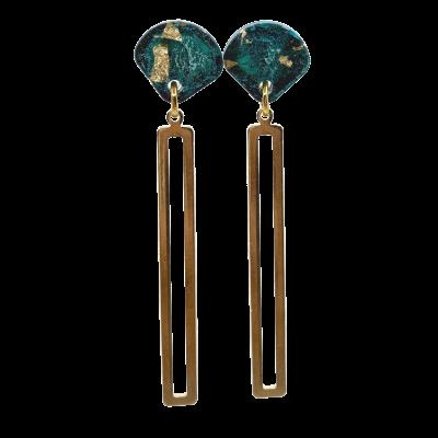 Sam - Turquoise et or - Nakimi - Bijoux et Accessoires - NA16