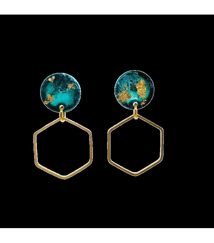 Eugénie - turquoise - Nakimi - Bijoux et Accessoires - NA18