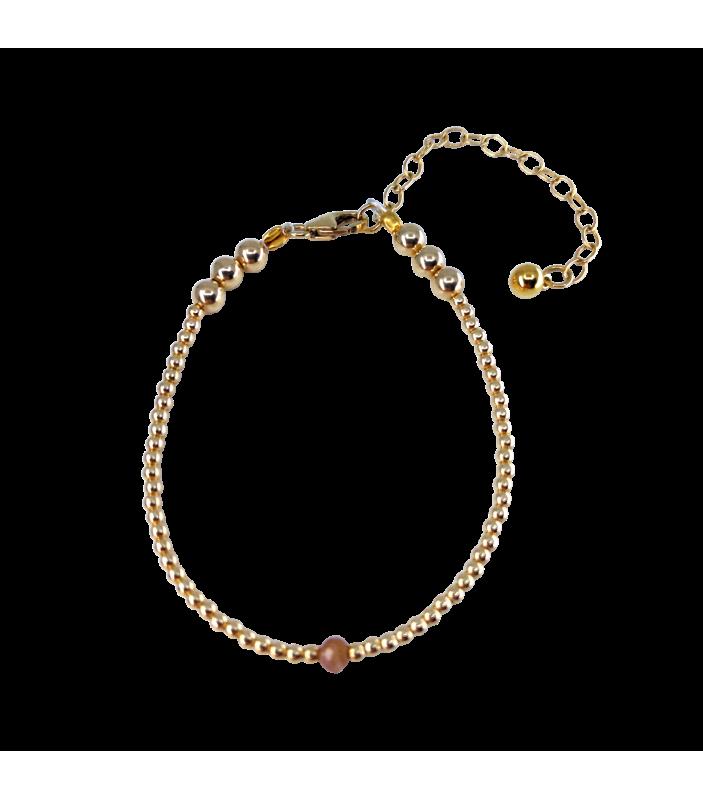 Bracelet KEYA - Tourmaline orange - Cozkoco - Bijoux et Accessoires - CZ31