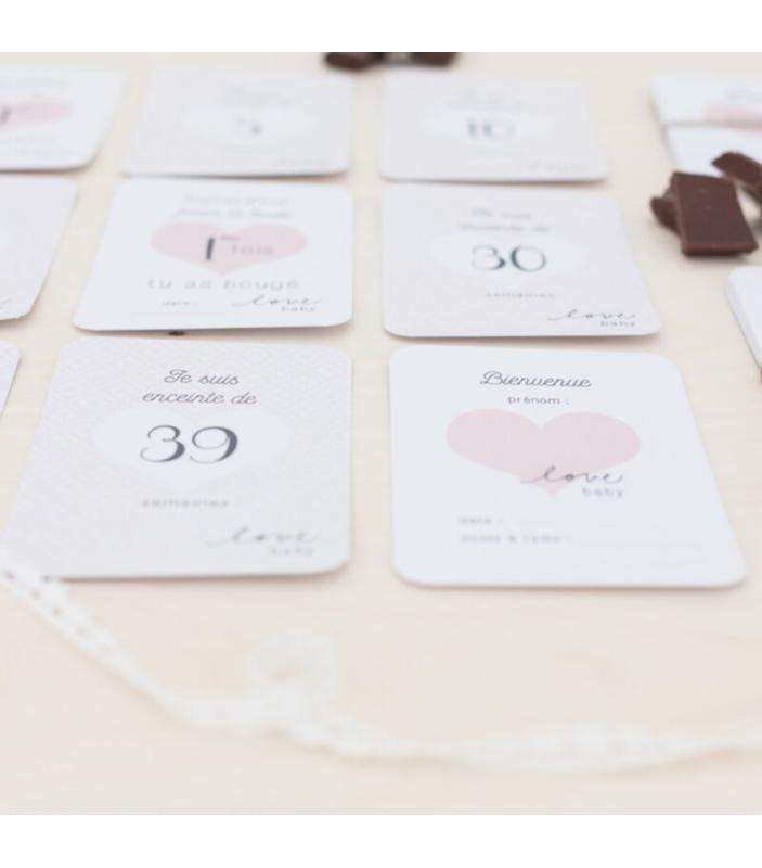 Coffret grossesse avec cartes étapes -  - Maternité - FPP15