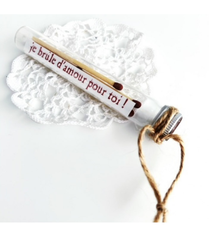 Fiole romantique et allumettes - Faire Part-à-Part - Cartes de vœux - FPP18