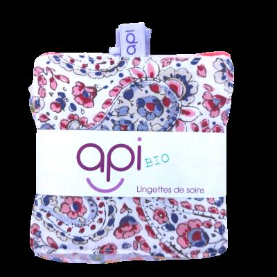 Kit 6 lingettes Bio motifs rose/bleu - api - Soins du Visage - API2-2