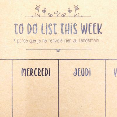 Carnet To Do list de la semaine - Faire Part-à-Part - Carnets - FPAP04
