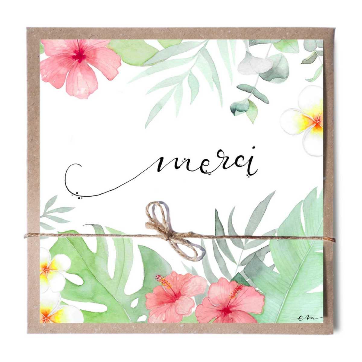 ALOHA - EM Créations - Cartes de vœux - EM6