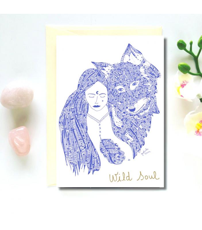 Carte de vœux Wild Soul - Let me fly - Cartes de vœux - 2430000011313